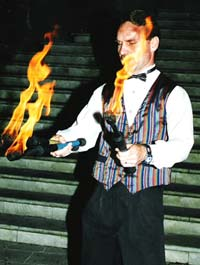 Fire Juggling Artist